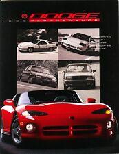 1993 Dodge Viper RT/10 Stealth Daytona Shadow ES Spirit ES Performance Brochure