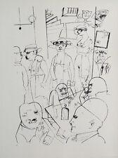 George Grosz Berlin Night Nude Erotic Pub Cigarette Brothel Crime Thief
