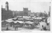 POSTCARD    LEICESTER   Market  Street    RP