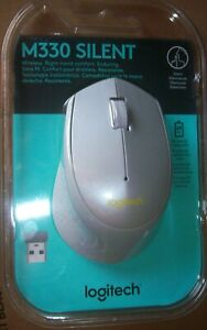 Logitech M330 Silent Silver-Gray Mouse 910-004908 New in Sealed Packagw