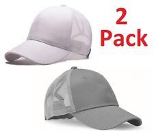 fc10240a44b20 2 Pack- Ponycap Messy High Bun Ponytail Adjustable Mesh Trucker Baseball  Cap Hat