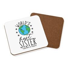 World's Best Sister Coaster Drinks Mat - Funny Gift Present