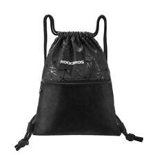 ROCKBROS Gym Drawstring Simple Backpack Sports Yoga Cycling Storage Bag Black