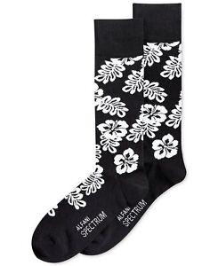 Alfani Men's Spectrum Black Hibiscus Crew Socks, size 10-13 (Pack of 3)