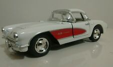 Kinsmart 1957  Chevrolet Corvette 1:34 Diecast Model car (White/Red) New!