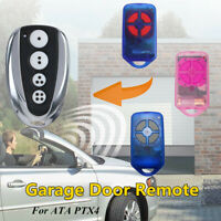 4 Button Garage Door Remote Control Replacement Rolling Code For ATA PTX4