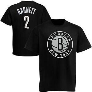 Brooklyn Nets NBA Kevin Garnett #2 Boys Tee Shirt Black Youth Sizes