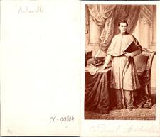 Le cardinal Giacomo Antonelli, secrétaire d'Etat du Pape Pie IX Vintage CDV