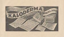 Y4191 KALODERMA - F. Wolff & Sohn - Pubblicità d'epoca - 1925 Old advertising