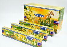 India's Satya Saibaba Nag Champa Natural dhoop Incense Sticks Agarbatti 12Pk 15g