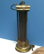 DAVY LAMP [ Stephenson ] Rare Example [ Gilt & Lacquered Brass ] Museum Quality