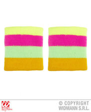 Multicolour Neon Wristband 80S Rave Sweatband Gay Pride Fancy Dress Accessory