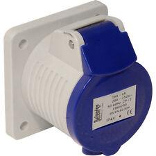 NUOVO 10 x impianti elettrici industriali pannello Socket IP44 230V 16A ogni venditore Freepost