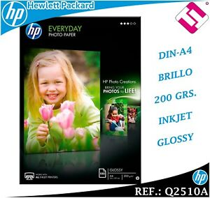 100 Sheets Paper Photo Everyday 210X297 HP Glossy 7.1oz (Peninsula)