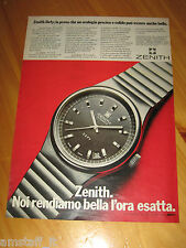 ZENITH DEFY OROLOGIO WATCH=ANNO 1974=PUBBLICITA=ADVERTISING=