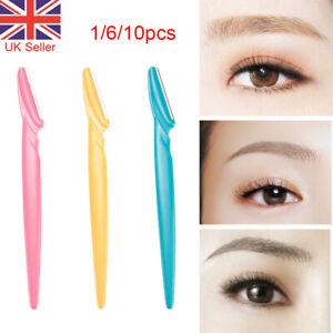 6/10/20pcs Eyebrow Brow Razor Dermaplaning Painless Portable Facial Shaper Tool