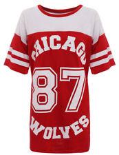 Mujer Béisbol Americano Universitaria Chicago 87 Wolves Estampado Deporte Malla