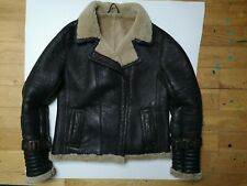 Genuine leather aviator size 10 dark brown Aviator style.great condition.