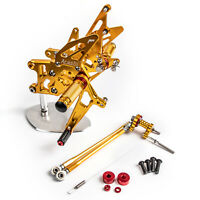 Gold Rearset Footrest Peg Pedal For Honda CBR600RR ABS 09 10 11 12 13 14 15 A01