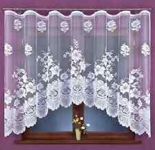 BEAU NEUF jacquard Rideau filet fleurs prêt à porter 320cm X160cm fenêtre maison