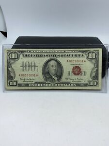 $100 Dollar Series 1966 United States Red Seal Note FR# 1550 *