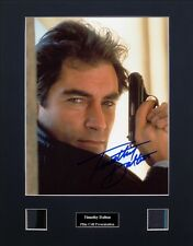 Timothy Dalton - James Bond Signed Photo Film Cell Presentation
