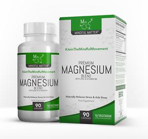 Magnesium-Mischung  |  90 Vegetarisches Kapseln  |  Glycinat, Taurat & Malat