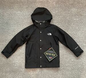 NWT The North Face Unisex Mountain Gore-Tex Jacket Black - Youth SZ Small(7/8)