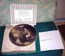 """1983 Norman Rockwell Knowles Collector Plate""""Grandpa's Treasure chest""""Coa W/Box"""