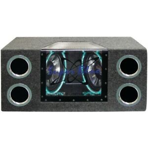 """Pyramid Car Audio BNPS102 Dual Bandpass System with Neon Accent Lighting (10""""..."""
