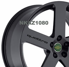 AUDI QUATTRO Vinyl Wheels Decal sticker Sport Racing Wheel emblem Rims BLACK