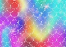 A1 | Art Poster of Rainbow Mermaids Tail 60 x 90cm 180gsm Glitters Gift#14352