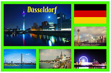 DUSSELDORF, GERMANY - SOUVENIR NOVELTY FRIDGE MAGNET - FLAGS / SIGHTS / GIFTS