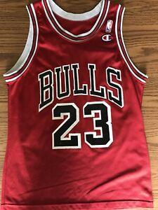 Vintage Michael Jordan Chicago Bulls Champion NBA Basketball Jersey Size 40