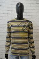 Maglione a Righe Uomo GAS Pullover Taglia L Sweater Cardigan Felpa Lana Vergine