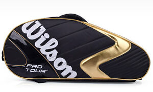 Wilson Pro Tour 6 Packs Badminton Racket Bag Sports Backpack Black WRZ-603606
