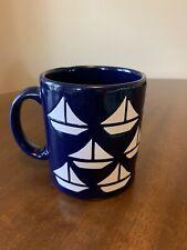 Waechtersbach W. Germany Navy Blue & White Sailboats Coffee/Tea Mug
