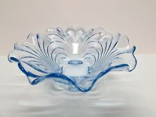 """CAMBRIDGE CAPRICE MOONLIGHT BLUE 10"""" FLARED RIM CENTERPIECE BOWL 4 FOOTED BASE"""