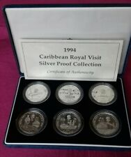1994 Caribbean Royal Visit Silver Proof Collection (6)
