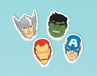MARVEL AVENGERS Erasers Pack of 12 Favours Party Bag Filler Birthday Kid