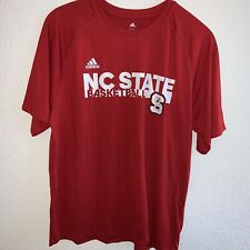NC State Wolfpack NCAA Adidas Men's Red Basketball Climalite T-Shirt