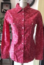 Nwt Red Floral Botton Down Women Long Sleeve  Size Small