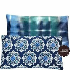 Chloe & Olive Bluehemian Mosaic Collection Geometric Medallion and Stripes Lumba