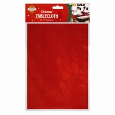 Christmas Tablecloth Red 132 x 178cm Xmas Party Gift Table Dining Decoration UK