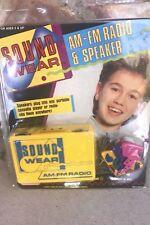 Vintage 80s Sound Wear AMFM Radio And Speaker 1989 NEW Toy Yellow Retro