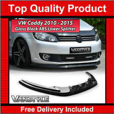 VW CADDY MK3 10-15 LOWER ABS GLOSS BLACK SPLITTER SPOILER BUMPER LIP ADD ON