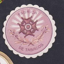 Ancienne   petite  Lytho médaillon  Cigare Label  BN54376 Fabrica Médaille