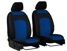"SEAT INCA LEON TOLEDO ECO LEATHER FRONT UNIVERSAL SEAT COVERS ""Blue"""