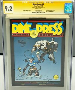 DIME PRESS #4 CGC 9.2 : FIRST APPEARANCE HELLBOY SIGNED BY MIKE MIGNOLA