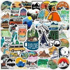 100Pc Hiking Adventure Outdoors Sticker Pack Laptop Luggage Skateboard Car Decal